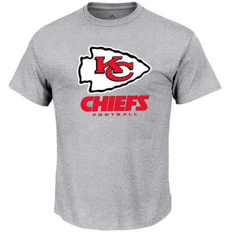 Kansas City Chiefs Majestic NFL Critical Victory T-Shirt - Steel Heather