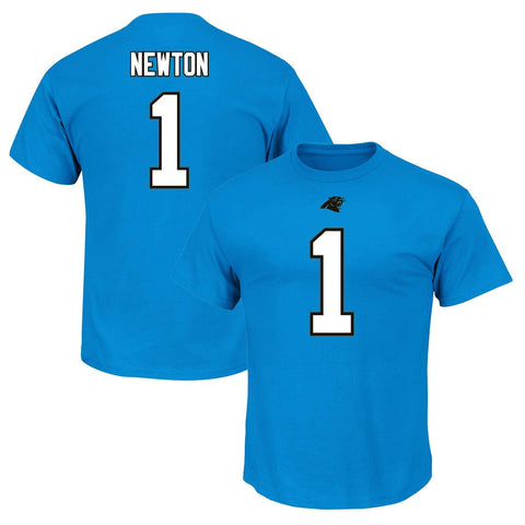 Cam Newton Carolina Panthers Majestic NFL Eligible Receiver T-Shirt - Blue