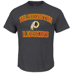 Washington Redskins Majestic NFL Heart & Soul T-Shirt - Charcoal