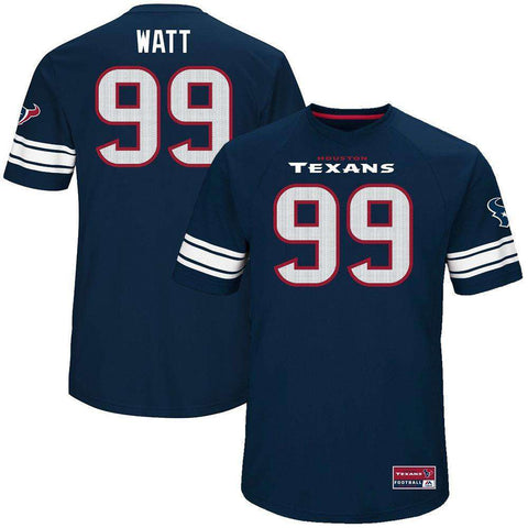 JJ Watt Houston Texans Majestic NFL Hashmark Replica Jersey - Navy
