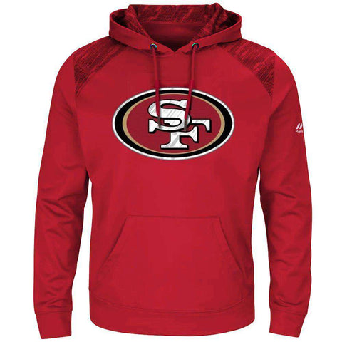 San Francisco 49ers Majestic NFL Armor Performance Hoodie Jumper - Red