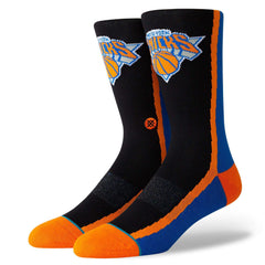 New York Knicks Stance NBA HWC Warmup Crew Socks - Black/Blue