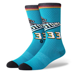Grant Hill Detroit Pistons Stance NBA HWC Throwback Jersey Crew Socks - Blue