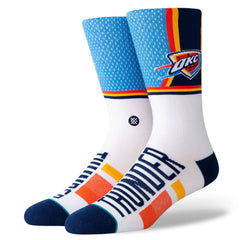 Oklahoma City Thunder Stance NBA Shortcut Crew Socks - Blue