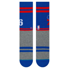 Philadelphia 76ers Stance NBA City Gym Crew Socks - Blue