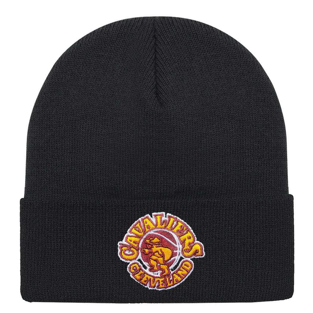 best website 54ee7 c5870 Cleveland Cavaliers Mitchell   Ness NBA HWC Logo Cuff Knit Beanie - Black.  Sale Sold out