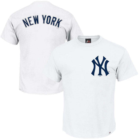 New York Yankees Majestic MLB Gamily Logo T-Shirt - White