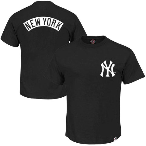 New York Yankees Majestic MLB Finter T-Shirt - Black