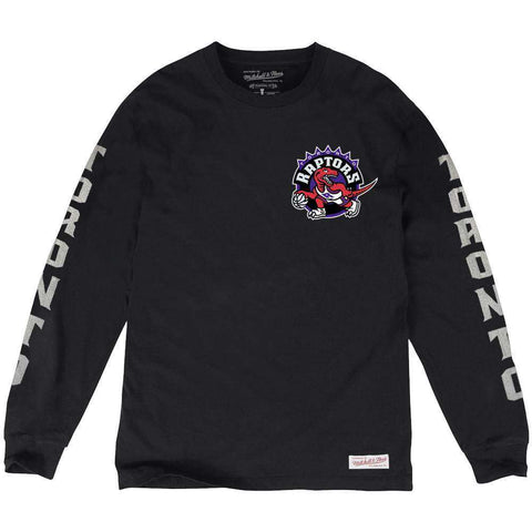 Toronto Raptors Mitchell & Ness NBA Iconic Long Sleeve T-Shirt - Black