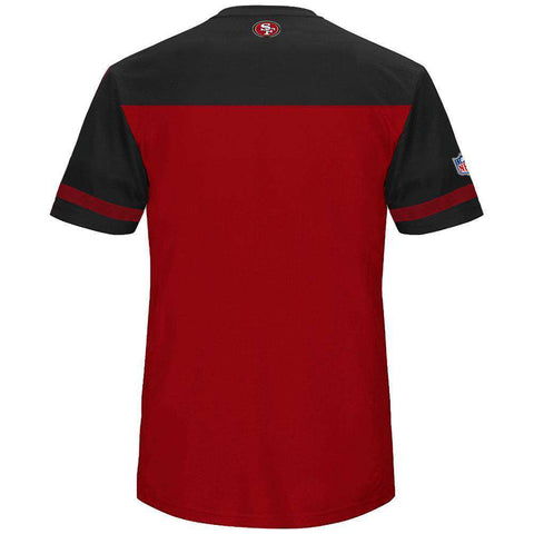 San Francisco 49ers Majestic NFL Poly Mesh Jersey Shirt - Red