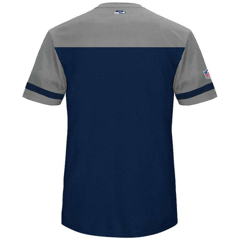 Seattle Seahawks Majestic NFL Poly Mesh Jersey Shirt - Navy