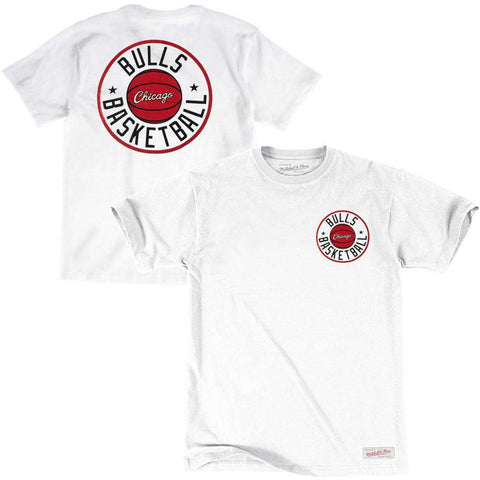 Chicago Bulls Mitchell & Ness NBA Full Circle T-Shirt - White