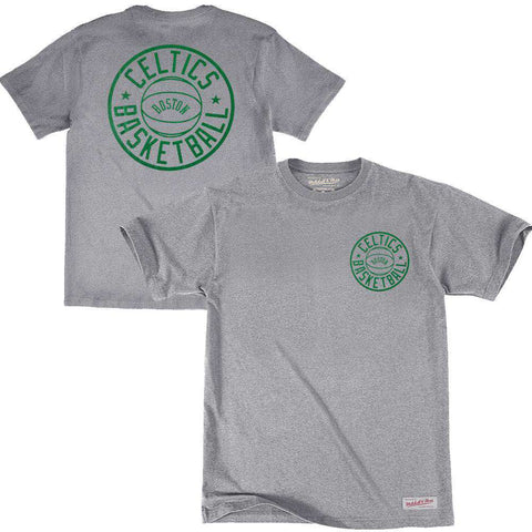 Boston Celtics Mitchell & Ness NBA Full Circle T-Shirt - Grey Marle