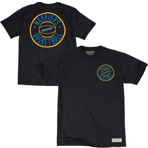 Golden State Warriors Mitchell & Ness NBA Full Circle T-Shirt - Black