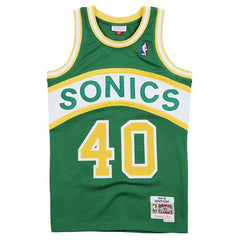 Shawn Kemp Seattle Supersonics Mitchell & Ness NBA 94-95 Swingman Jersey - Green
