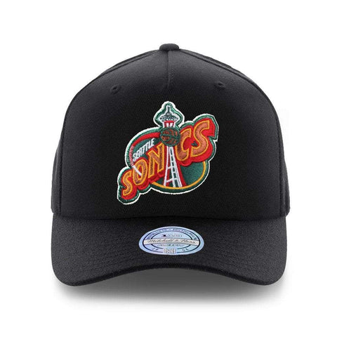 Seattle Supersonics Mitchell & Ness NBA HWC Logo 110 Snapback Hat - Black