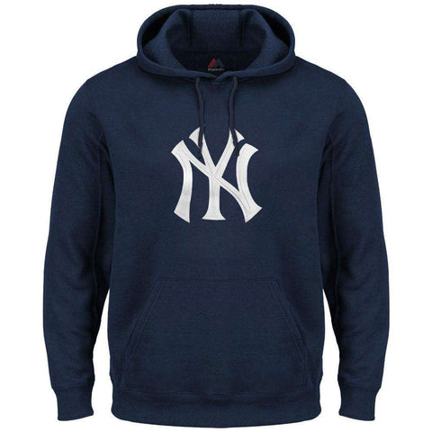 New York Yankees Majestic MLB Scoring Position Hoodie Jumper - Navy