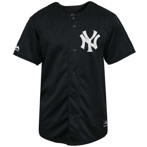 New York Yankees Majestic MLB Black & White Replica Jersey