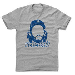 Clayton Kershaw Los Angeles Dodgers 500 Level MLB Silhouette T-Shirt - Gray