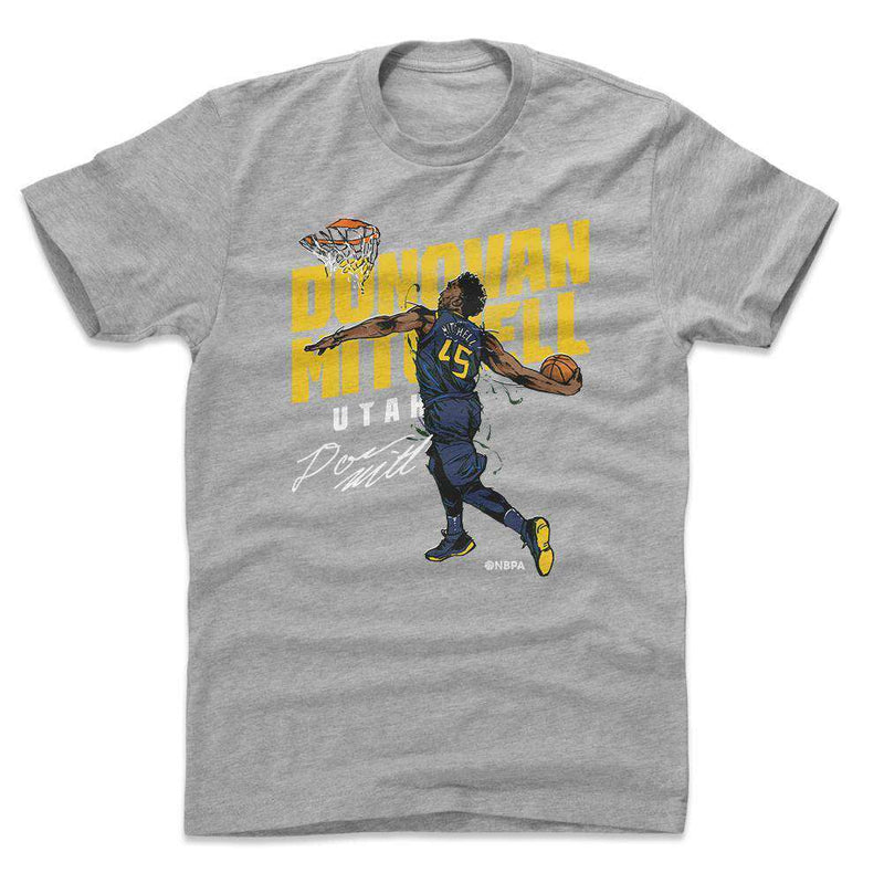 Donovan Mitchell Utah Jazz 500 Level NBA Slam T-Shirt - Gray