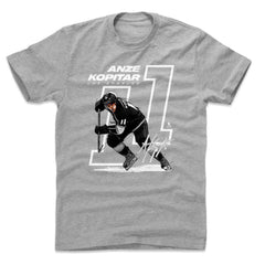 Anze Kopitar Los Angeles Kings 500 Level NHL Offset T-Shirt - Grey