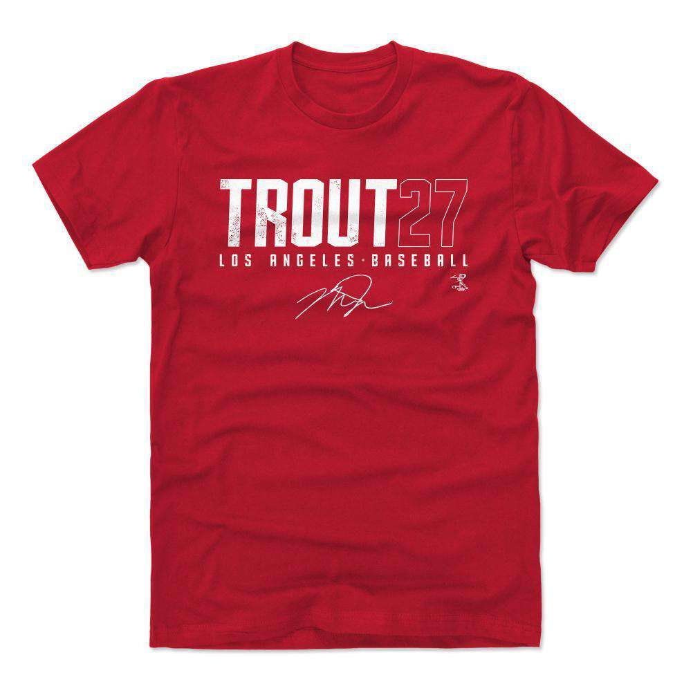 cfd89d3b0f6 Mike Trout Los Angeles Angels 500 Level MLB Name T-Shirt - Red   US ...