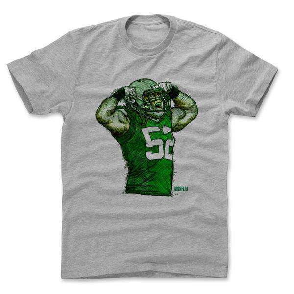 Clay Matthews Green Bay Packers 500 Level NFL Sketch T-Shirt - Grey