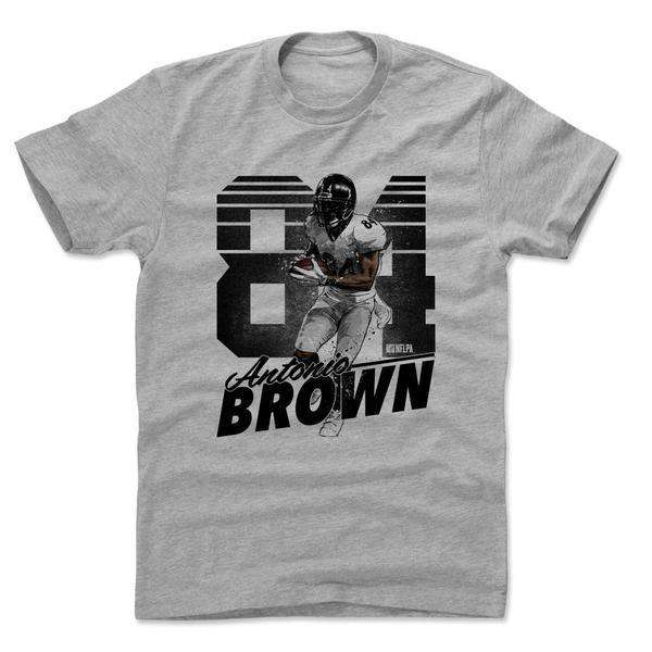 Antonio Brown Pittsburgh Steelers 500 Level NFL Retro T-Shirt - Grey
