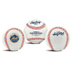 New York Mets Rawlings MLB Team Logo Baseball Ball