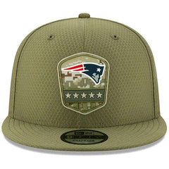 New England Patriots New Era NFL 2019 Salute To Service 9FIFTY Snapback Hat - Army