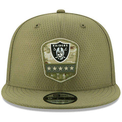 Oakland Raiders New Era NFL 2019 Salute To Service 9FIFTY Snapback Hat - Army