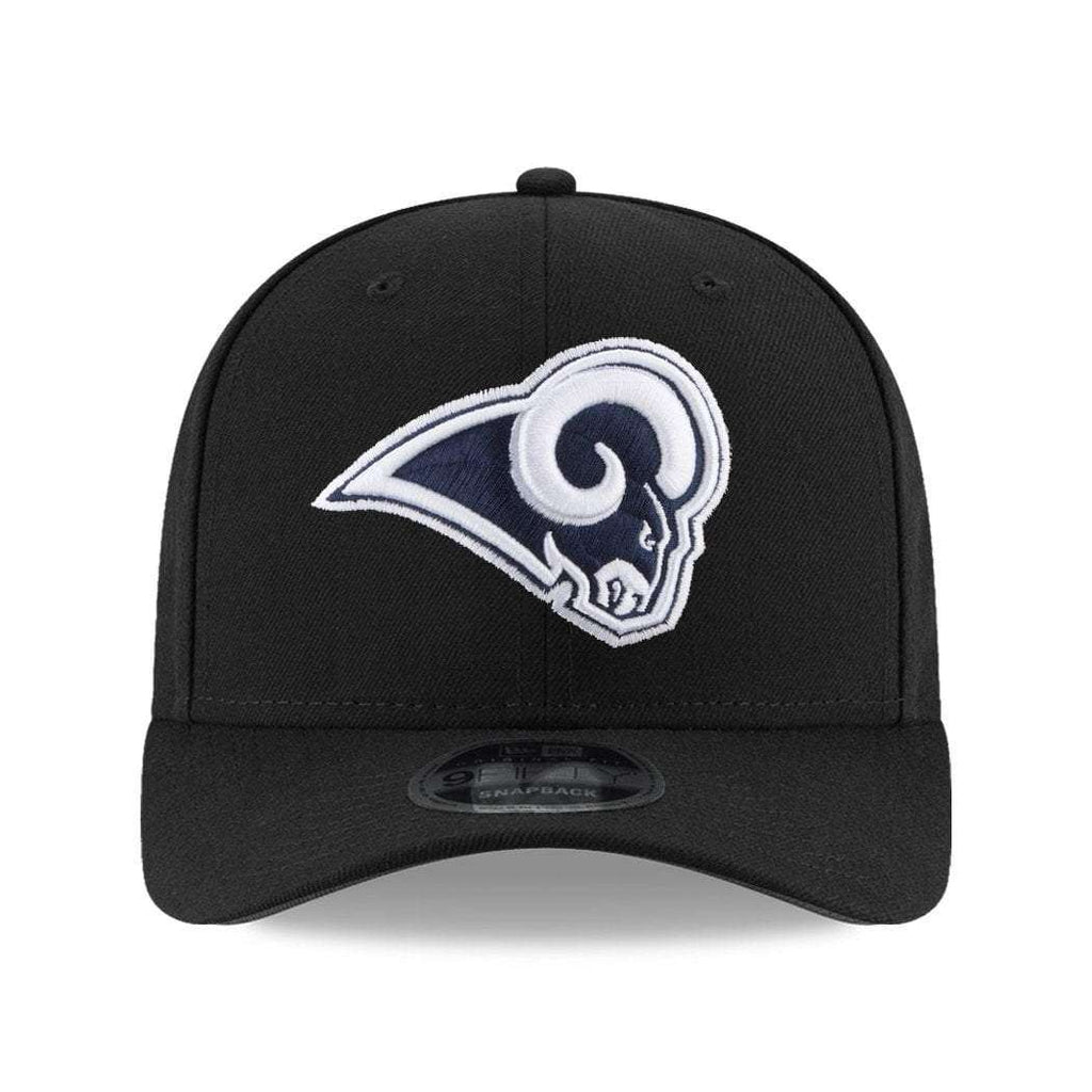 Los Angeles Rams New Era NFL 9FIFTY Pre-Curved OF Snapback Hat - Black 1636aa719188