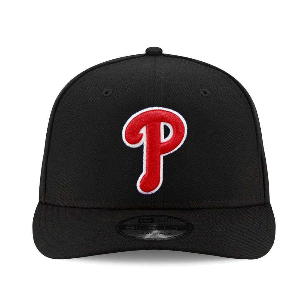 3832e532e86 Philadelphia Phillies New Era MLB Team Pre-Curved 9FIFTY Snapback Hat -  Black