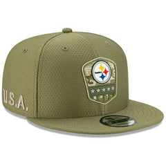 Pittsburgh Steelers New Era NFL 2019 Salute To Service 9FIFTY Snapback Hat - Army