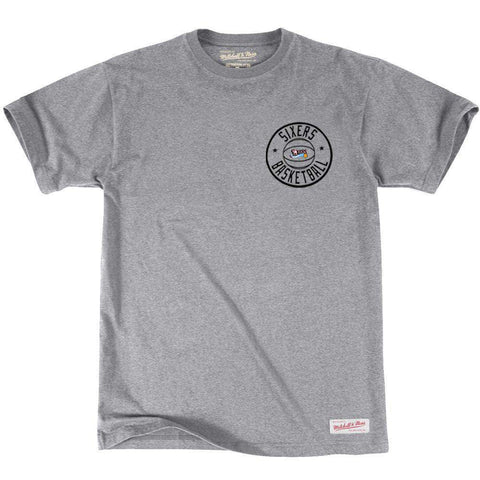 Philadelphia 76ers Mitchell & Ness NBA Full Circle T-Shirt - Grey Marle