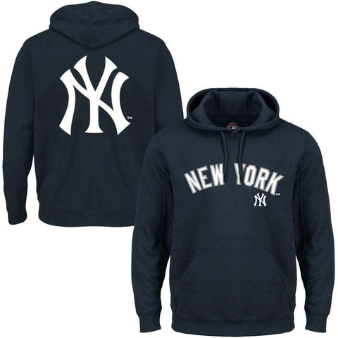 New York Yankees Majestic MLB Rolsher Hoodie Jumper - Navy
