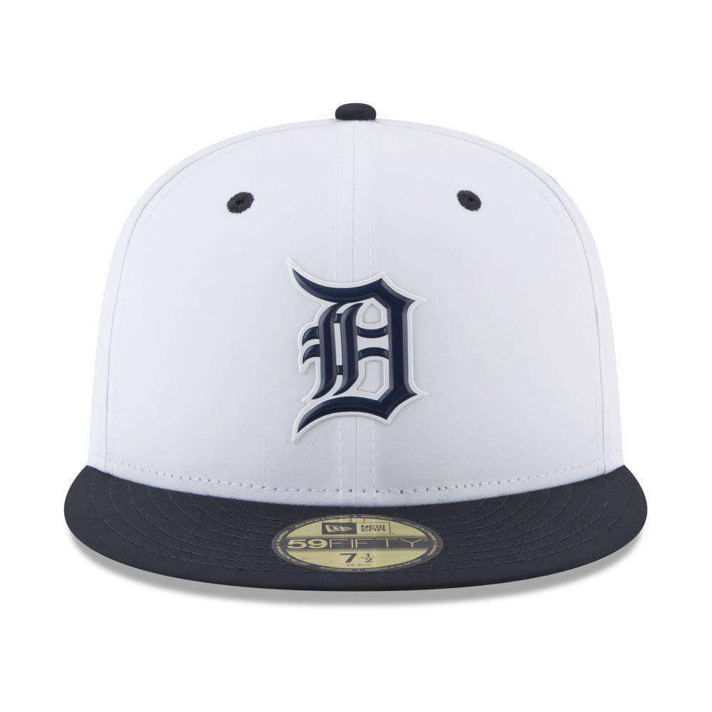 sports shoes 79fd6 e80fe Detroit Tigers New Era MLB 2018 Prolight BP 59FIFTY Fitted Hat - White