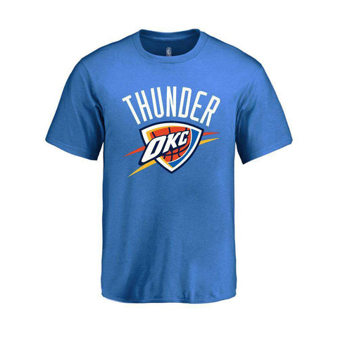 Youths Oklahoma City Thunder Outerstuff NBA Logo T-Shirt - Blue