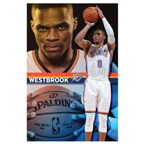 Russell Westbrook Oklahoma City Thunder 56 x 86cm Trends NBA Poster - Laminated