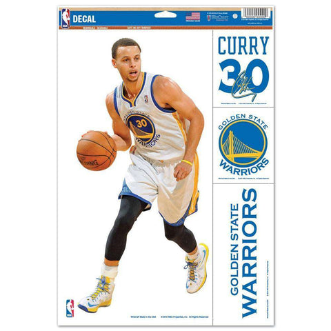 "Stephen Curry Golden State Warriors Wincraft NBA Multi-Use 11"" x 17"" Decal Set"