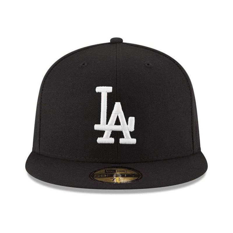 Los Angeles Dodgers New Era MLB Black & White 59FIFTY Fitted Hat