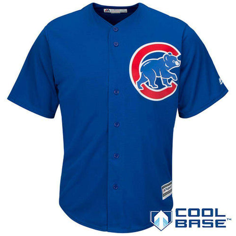 Chicago Cubs Majestic MLB AC Cool Base Replica Jersey - Blue