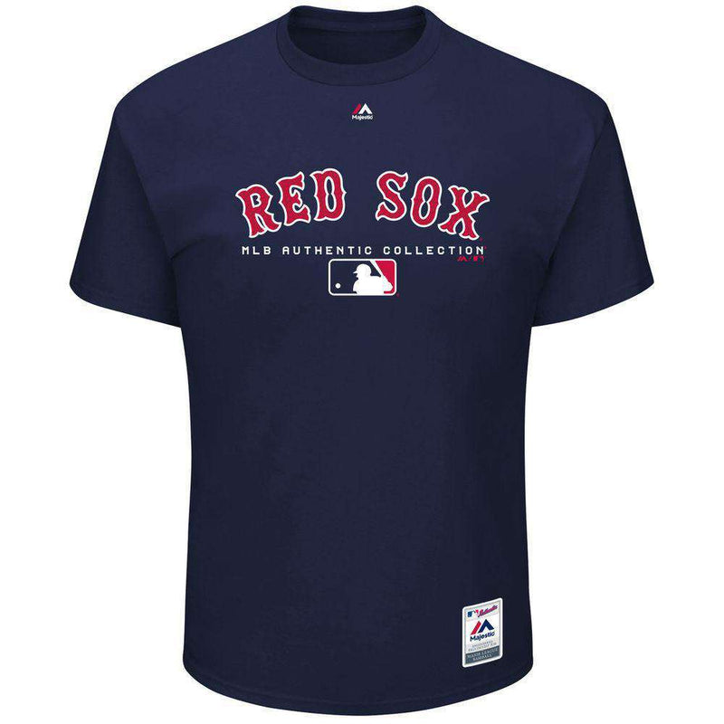 Boston Red Sox Majestic MLB Authentic Team Drive T-Shirt - Navy