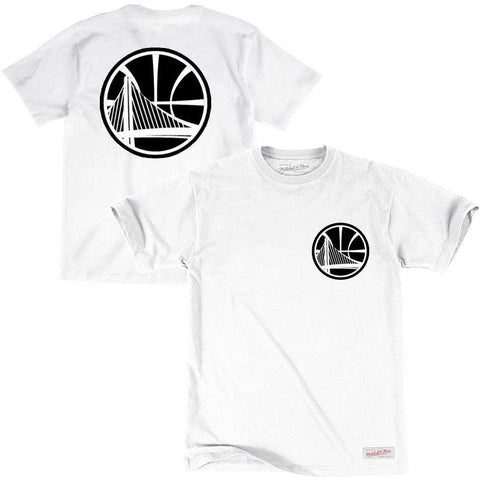 Golden State Warriors Mitchell & Ness NBA Mono Logo T-Shirt - White