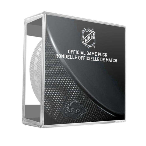 Boston Bruins Sher-Wood NHL Anniversary Puck w/Case