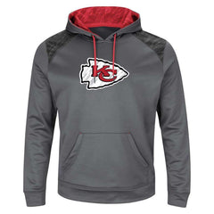 Kansas City Chiefs Majestic NFL Armor Performance Hoodie Jumper - Grey