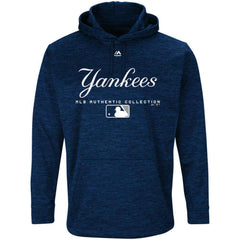 New York Yankees Majestic MLB Authentic Team Drive Hoodie - Navy