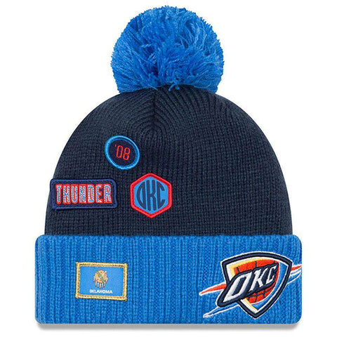 Oklahoma City Thunder New Era NBA 2018 NBA Draft Knit Beanie - Navy