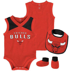 Infant Chicago Bulls Outerstuff NBA Creeper Bib Bootie Set - Red