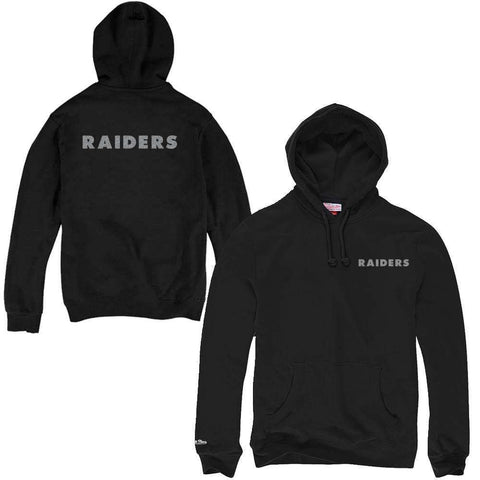 Oakland Raiders Mitchell & Ness NFL Pocket Wordmark Hoodie Jumper - Black
